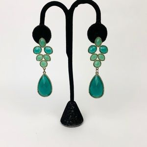 Jewelry - Green/blue stones hanging earrings